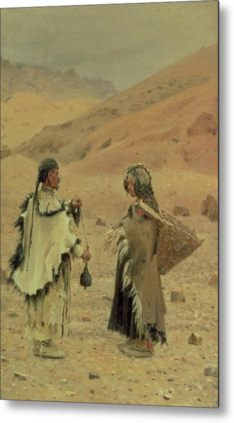 West Tibetans, 1875 Oil On Canvas Metal Print