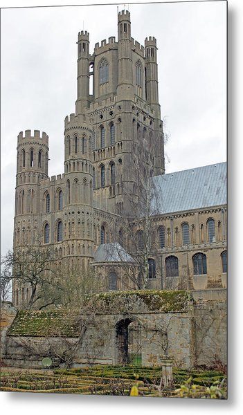 West Tower Of Ely Cathedral  Metal Print