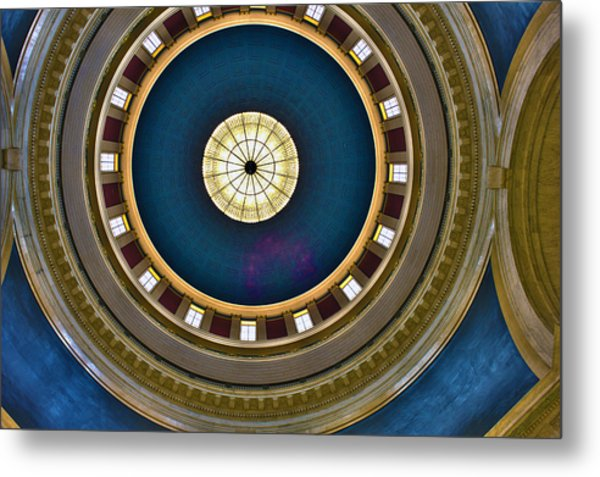 West Virginia State Capital Dome Hdr Metal Print