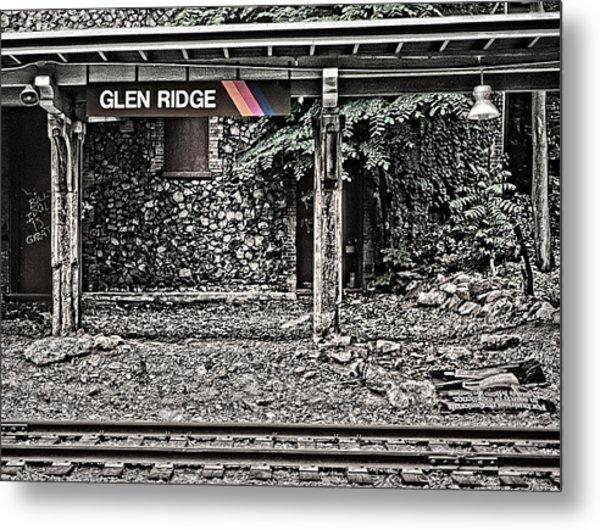 Westbound Track At Glen Ridge Station Metal Print