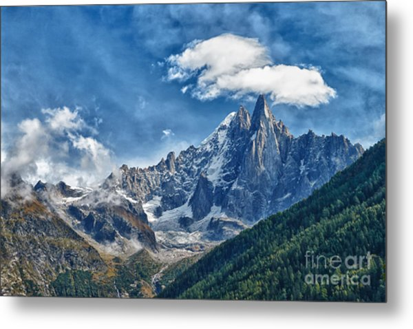 Western Alps In Chamonix Metal Print