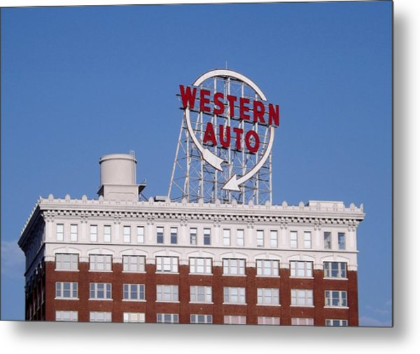 Western Auto Building Of Kansas City Missouri Metal Print