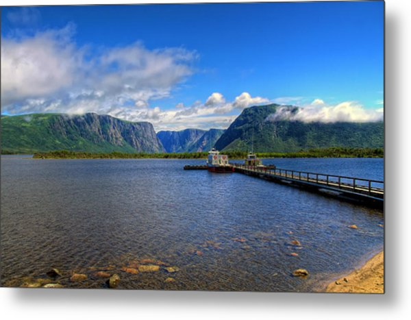 Western Brook Fjord. Metal Print