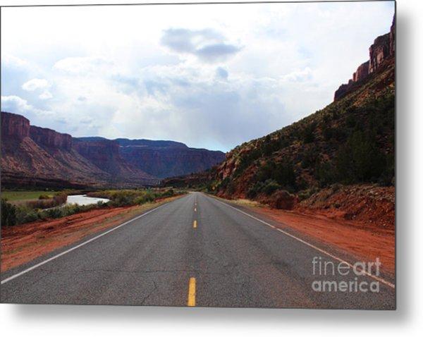 Western Colorado Drive Metal Print