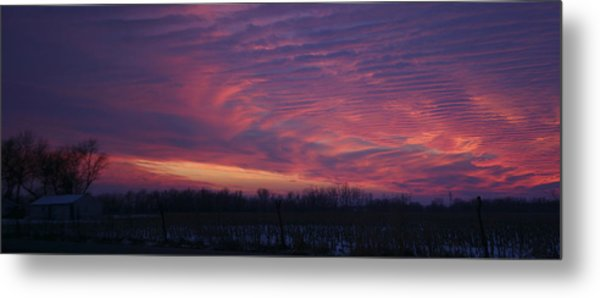 Western Evening Wide Open Metal Print