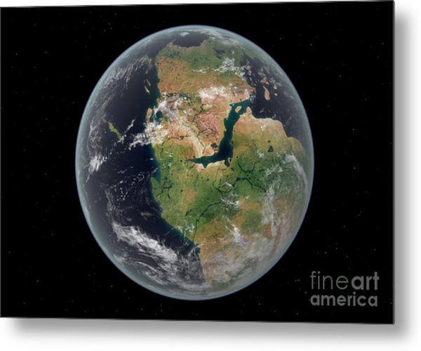 Western Hemisphere Of The Earth Metal Print