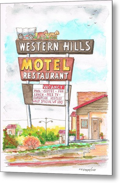Western Hills Motel In Route 66 Flagstaff - Arizona Metal Print