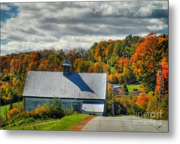 Western Maine Barn Metal Print