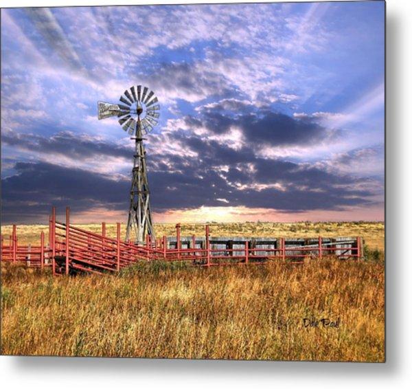Western Windmill Metal Print