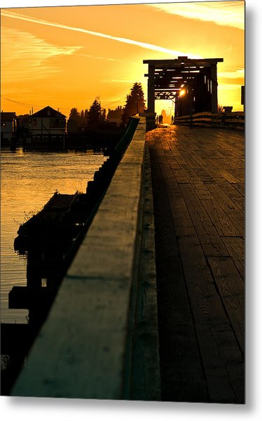 Westham Island Bridge Metal Print