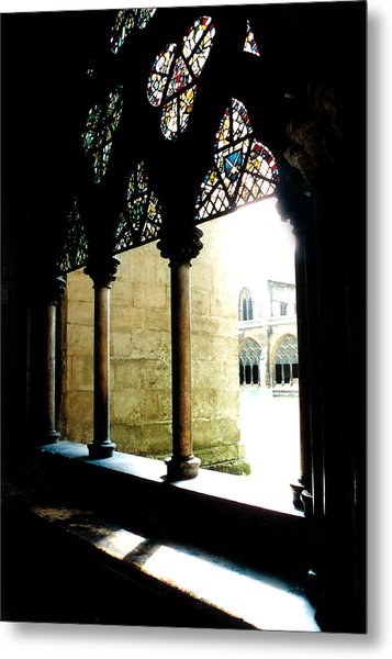 Westminster Abbey Courtyard Metal Print