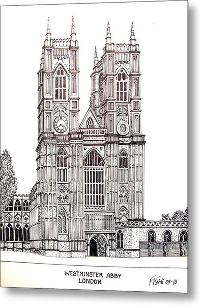 Westminster Abby - London Metal Print