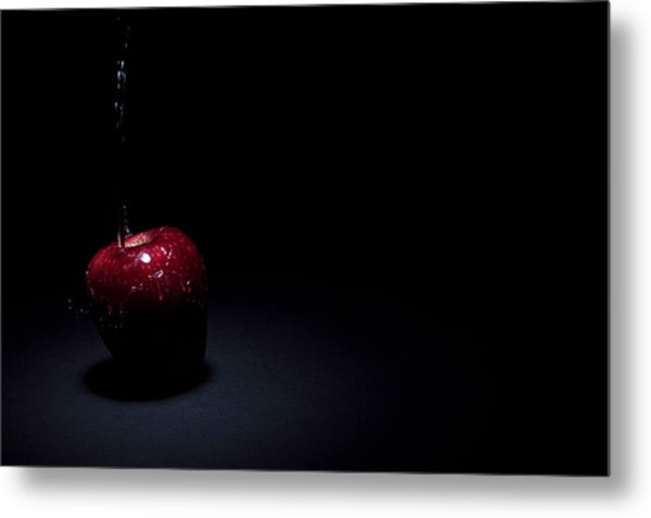 Wet Apple Metal Print