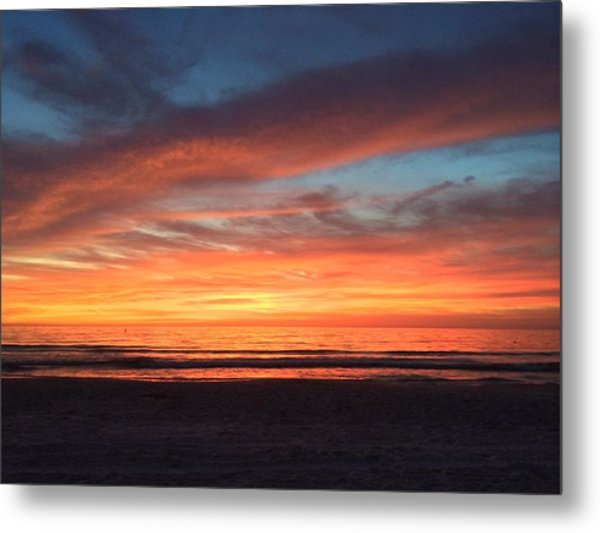 Whale Eye In Sky Sunset St.pete Beach Metal Print