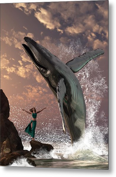 Whale Watcher Metal Print