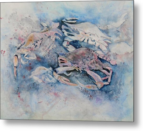What A Crab Metal Print