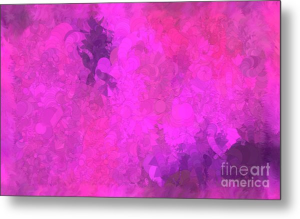 What Do You Want Pink Metal Print