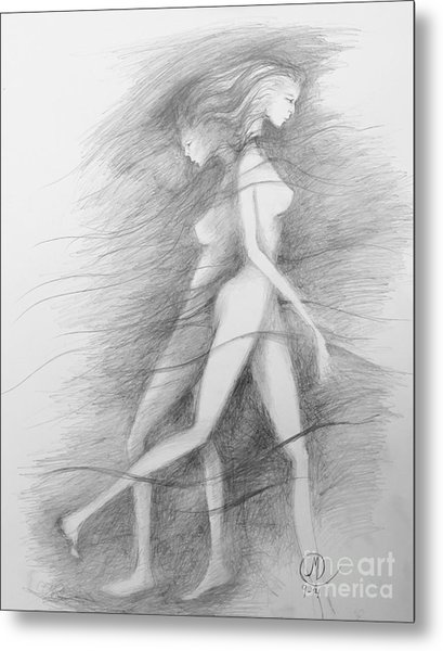 What Lies Within My Shadow Metal Print