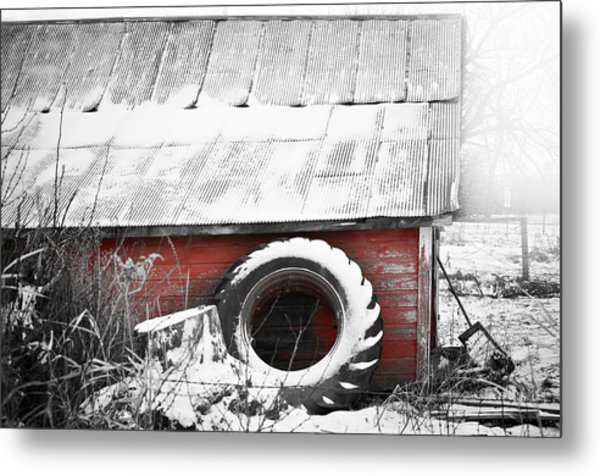 What's He Building In There Metal Print