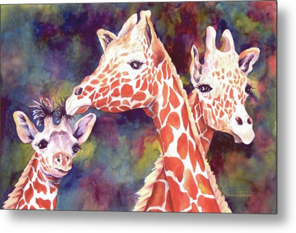 What's Up Dad - Giraffes Metal Print