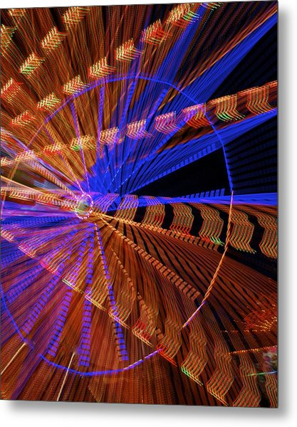 Wheel Of Light Metal Print