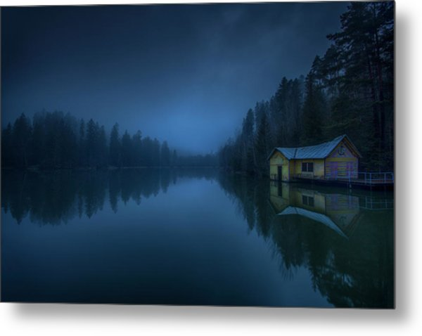 When Clouds And Night Were Falling Metal Print
