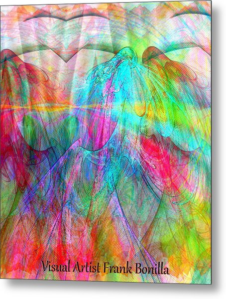 Metal Print featuring the digital art When Doves Cry by Visual Artist Frank Bonilla
