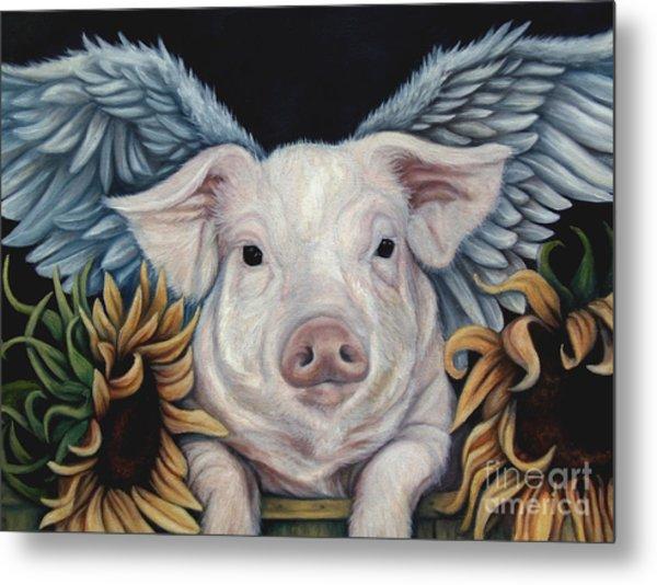 When Pigs Fly Metal Print by Lorraine Davis Martin