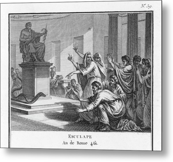 When Plague-afflicted Romans  Come Metal Print by Mary Evans Picture Library