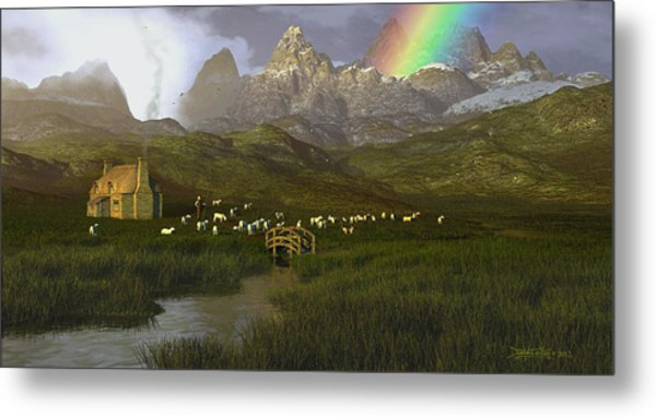 When The Grass Was Greener Metal Print