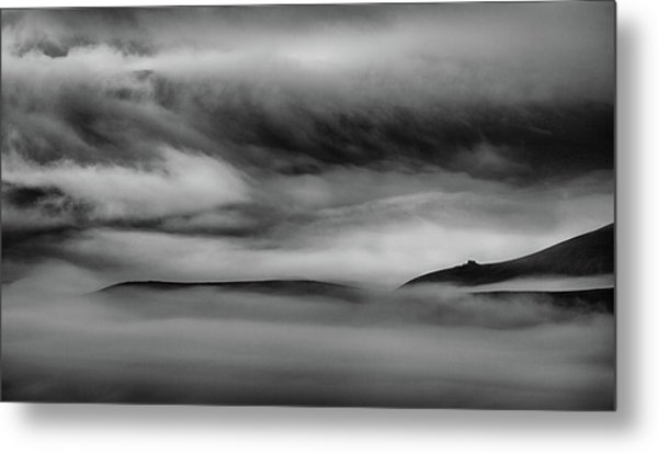When The Sky Meets The Land Metal Print