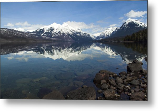 When The Sun Shines On Glacier National Park Metal Print