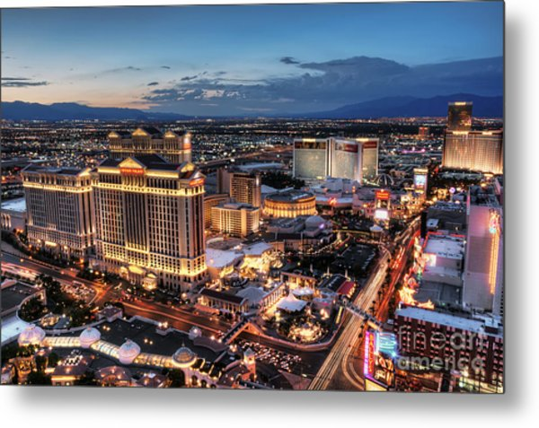 When Vegas Comes To Life Metal Print by Eddie Yerkish