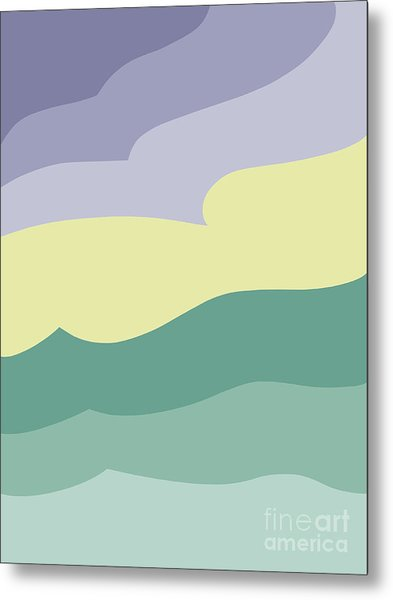 Where Sea Meets Sky Metal Print