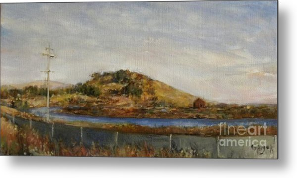 Where The Bay Meets The Hill Metal Print