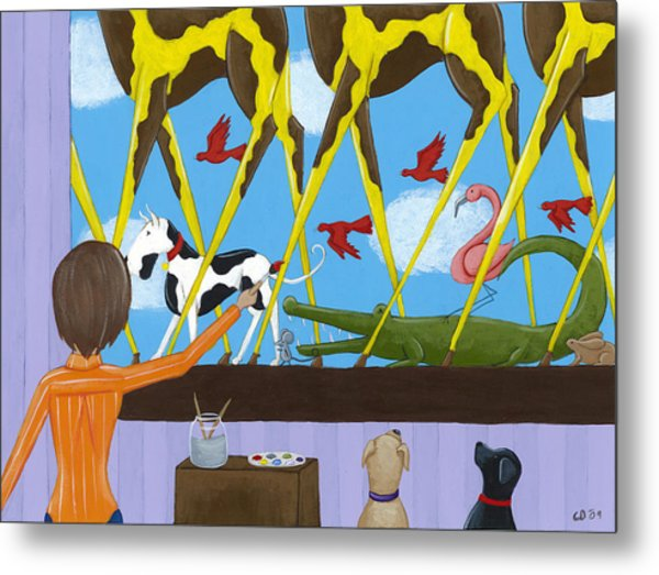 Whimsical Painting Metal Print