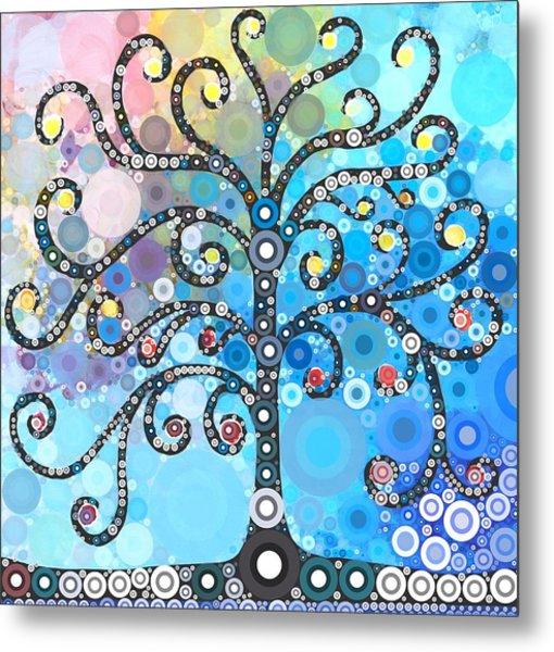 Whimsical Tree Metal Print
