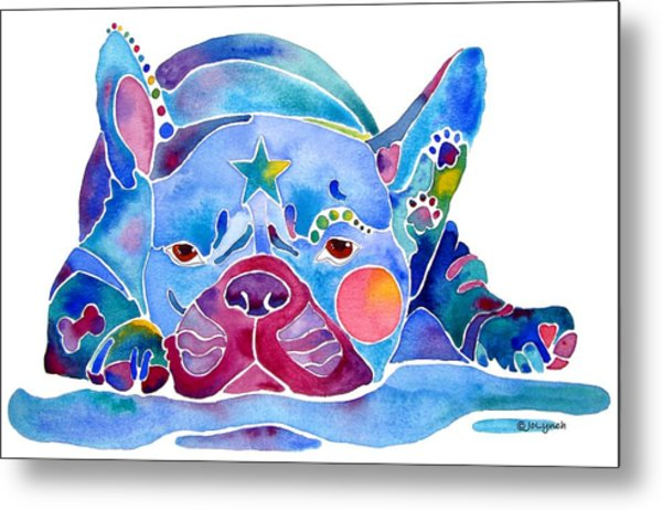 Whimzical French Bulldog  Metal Print