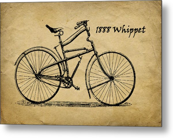 Whippet Bicycle Metal Print