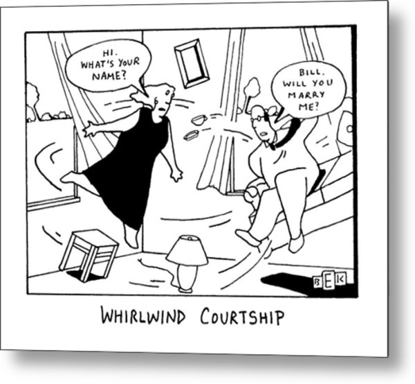 Whirlwind Courtship Metal Print