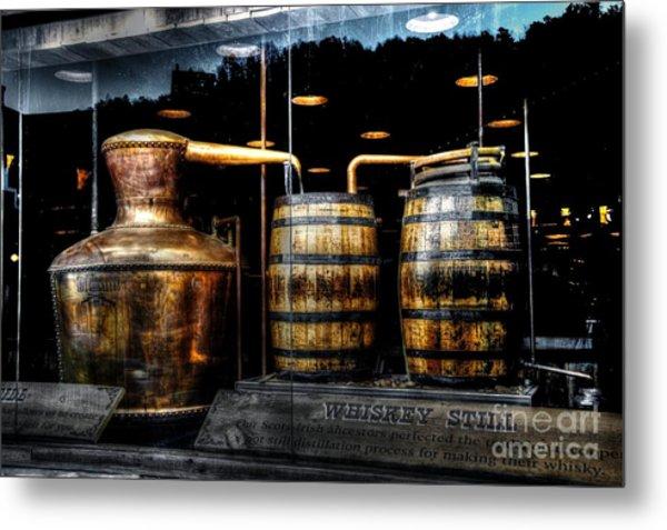 Whiskey Still On Main Street Metal Print