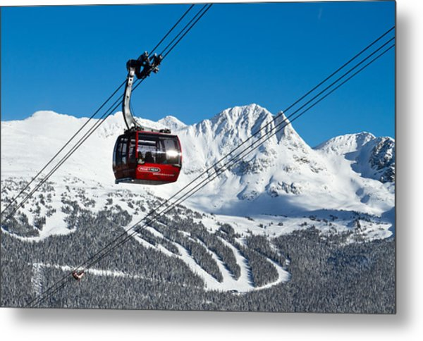 Whistler Blackcomb Peak To Peak Metal Print