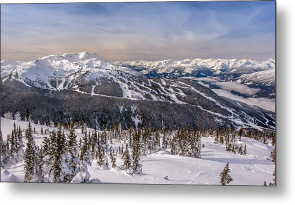 Whistler Mountain Winter Metal Print