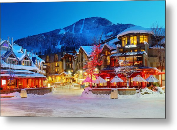 Whistler Village  Metal Print