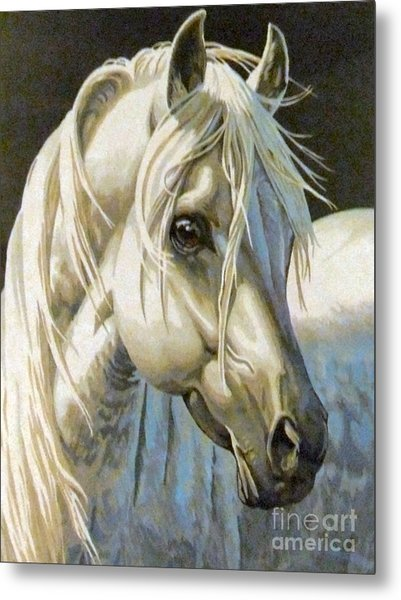white Arabian Metal Print