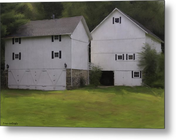 White Barns Metal Print