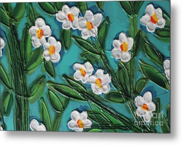 White Blooms 2 Metal Print