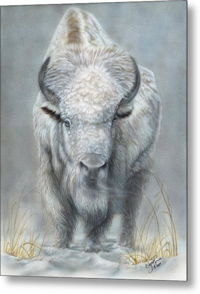 White Buffalo Metal Print