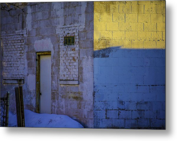 White Building Metal Print