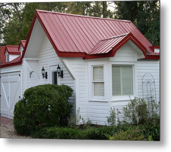 White Cottage Red Roof In Moultrie Georgia 2004 Metal Print